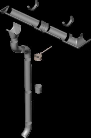Металева водостічна система Flamingo