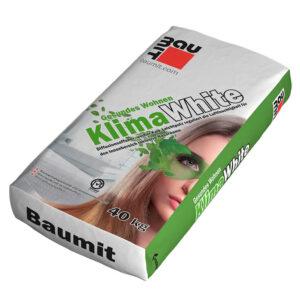 Інтер'єрна сануюча вапняна штукатурна суміш Baumit Klima White