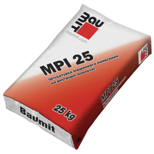Штукатурна цементно-вапняна суміш Baumit MPI 25 для внутрішніх робіт