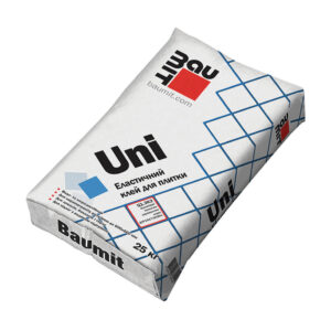 Клейова суміш для облицювання керамогранітними плитками Baumit Uni
